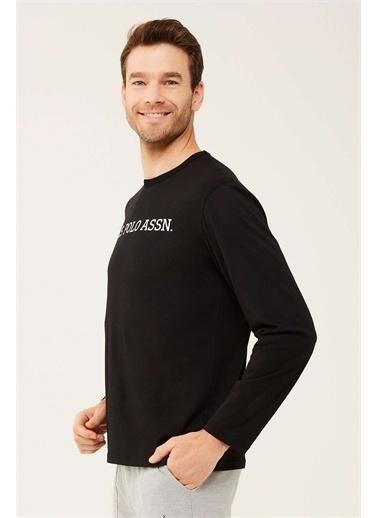 U.S. Polo Assn. U.S. Polo Assn. Erkek Beyaz Uzun Kollu T-shirt Siyah
